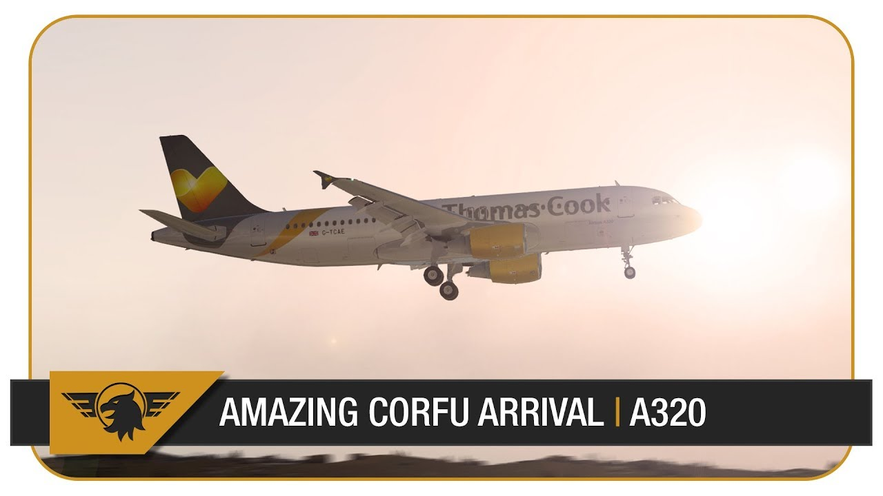 X-Plane 11 60FPS] INCREDIBLE SCENERY | Thomas Cook A320