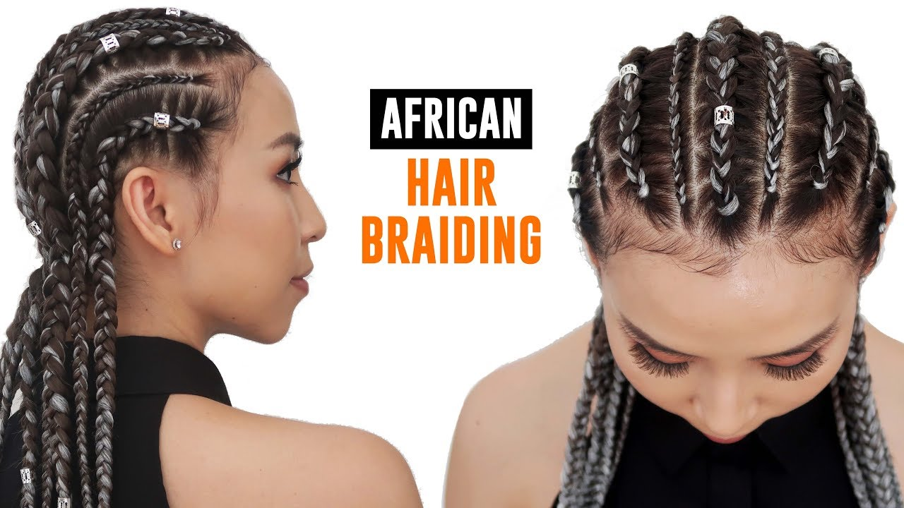 Getting My Hair Braided For The First Time - YouTube