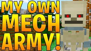 MINECRAFT 1.12.2 MODDED BATTLEDOME - MECH SKELETON ARMY MOD
