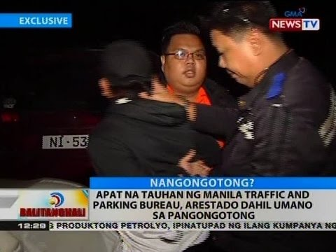 BT: Apat na tauhan ng Manila Traffic and Parking Bureau, arestado dahil umano sa pangongotong