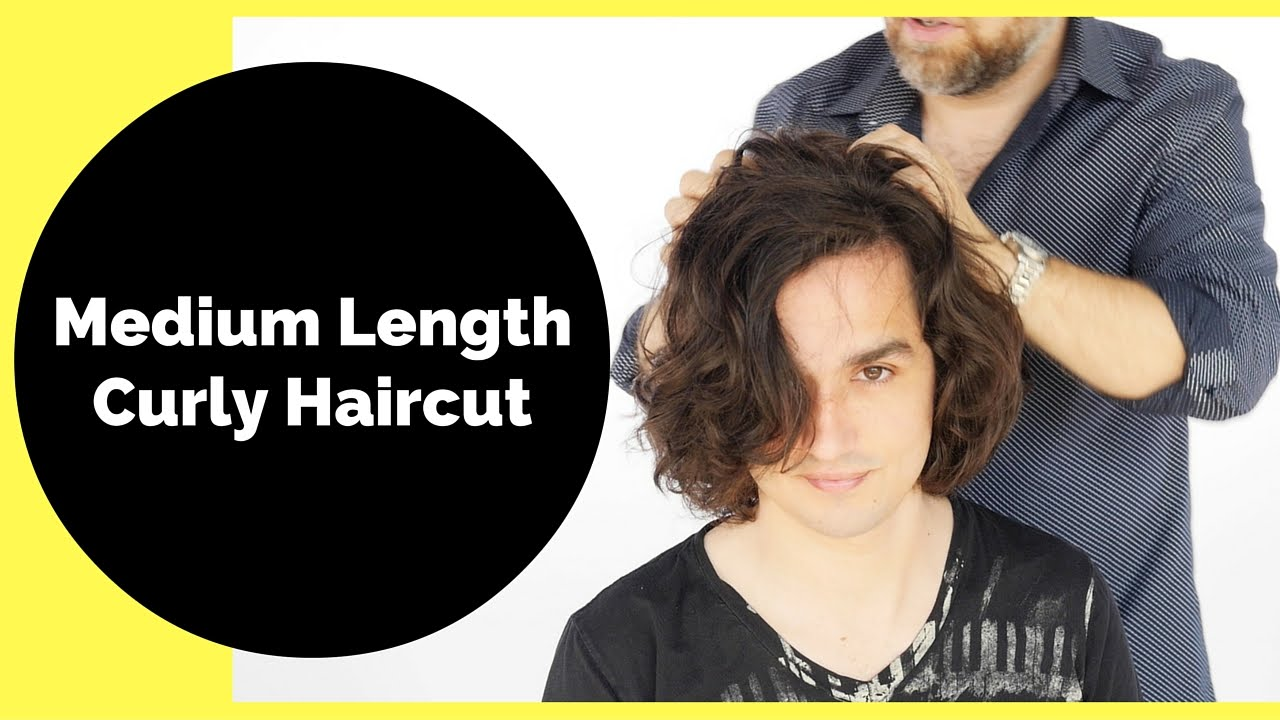 Medium Length Curly Haircut For Men Thesalonguy Youtube
