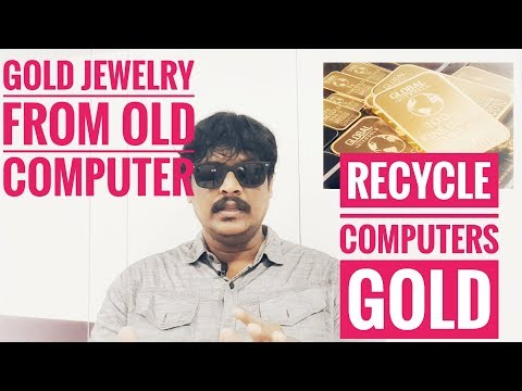Gold Jewelry from recycled computer -- DELL -- in TAMIL