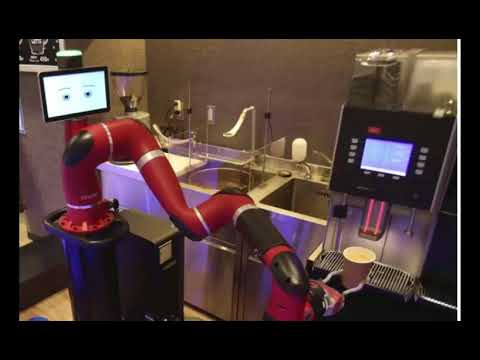 Robot makes coffee at new cafe in Japan's capital