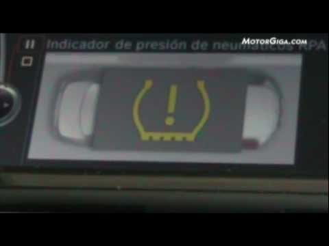 bmw serie6 video indicador presion neumatico