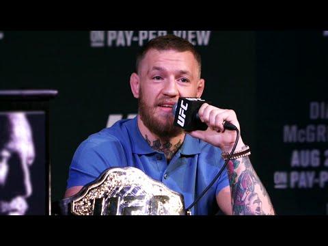 UFC 202 Press Conference: Conor McGregor Arrives Late, War Erupts