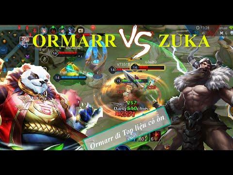 Top Ormarr mùa 16 thể hiện sức mạnh khi gặp Zuka đường tà thần | Leo Rank Top 1 Ormarr Liên Quân