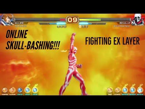 ONLINE SKULL-BASHING!!! 💀 | FIGHTING EX LAYER BETA  [PS4]|HEARTLESSN8TION.COM