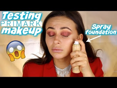 TESTING PRIMARK MAKEUP - AIRBRUSH FOUNDATION?! REALLY ..