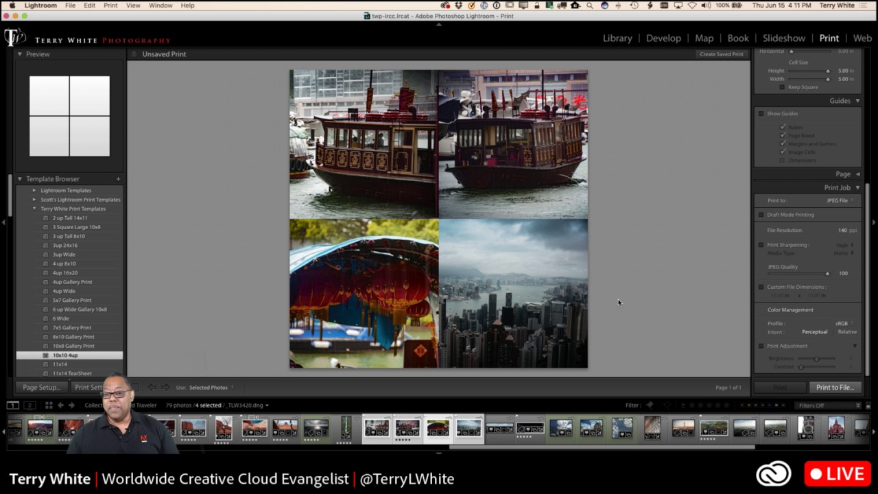How To Create Custom Print And Social Media Templates In Lightroom