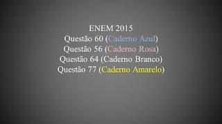 ENEM 2015 - Questão 60 (Caderno Azul)