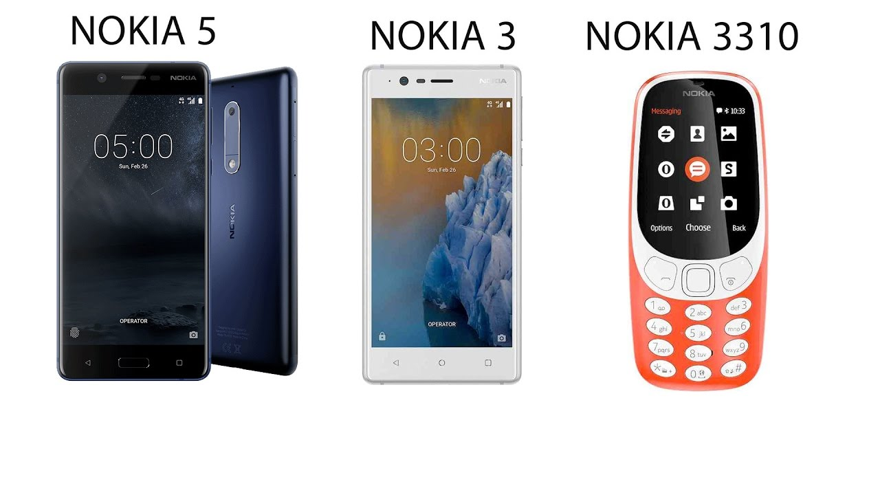 New Nokia 5 / Nokia 3 Smartphones & Nokia 3310 Announced ...