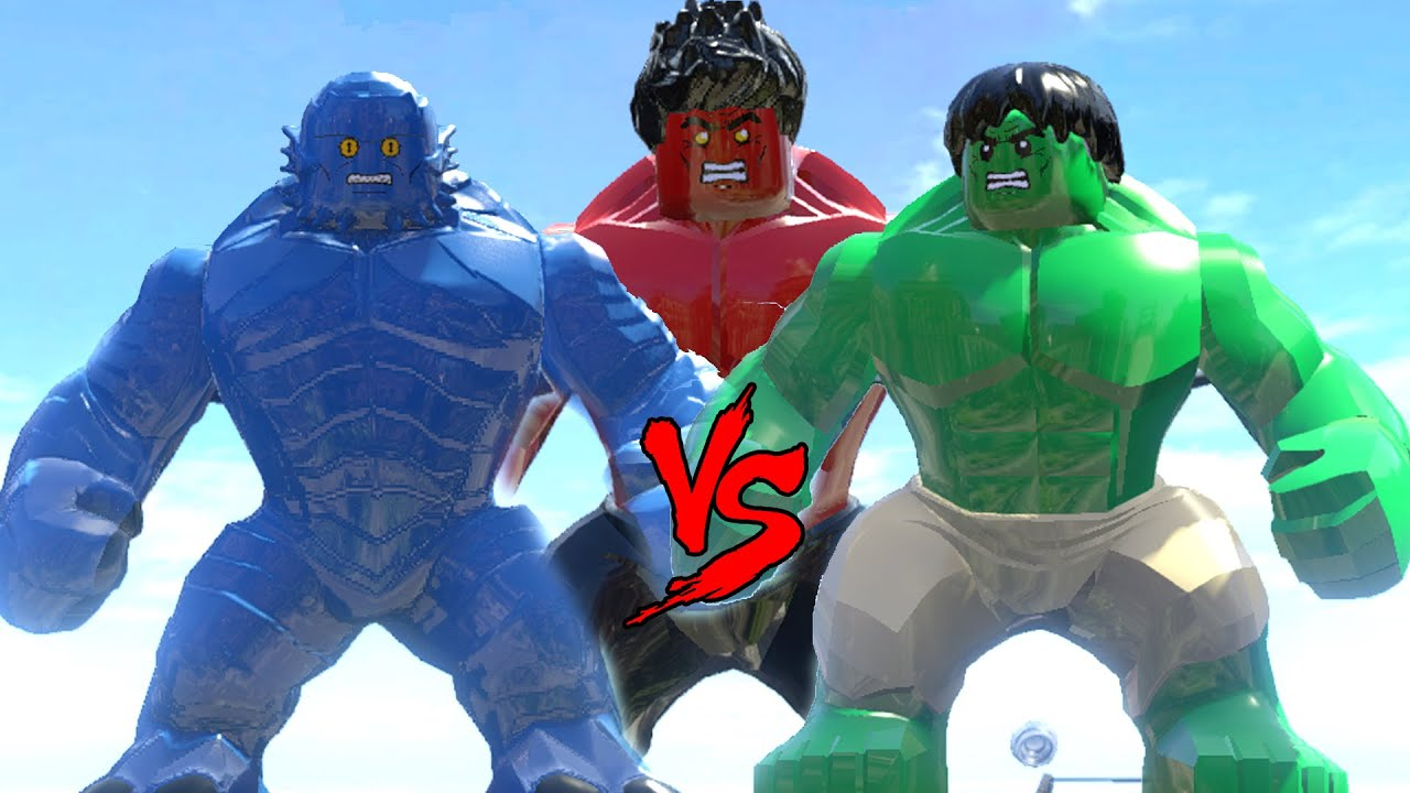 HULK VS A-BOMB VS RED HULK - EPIC BATTLE(LEGO MARVEL SUPER ...