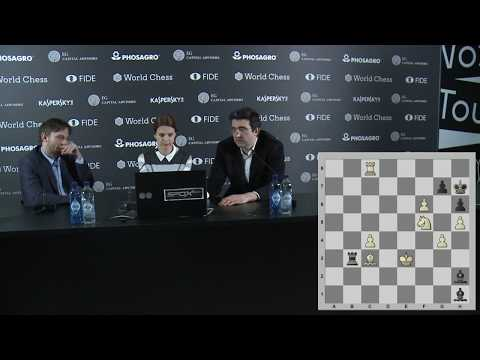 Round 8. Press conference with Grischuk and Kramnik