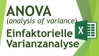 ANOVA (einfaktorielle Varianzanalyse) in Excel durchführen - Daten analysieren in Excel (16)
