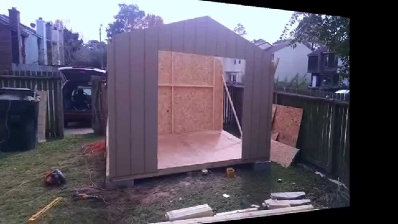 shed kit install before u0026 after youtube