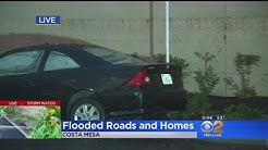 Storm Water Rises Higher Than 4 Feet On Costa Mesa Street