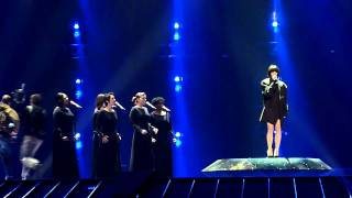 Austria: Nadine Beiler - The secret is love, first rehearsal