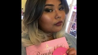 beauty killer palette and skin frost from jeffree star cosmetics review tutorial form
