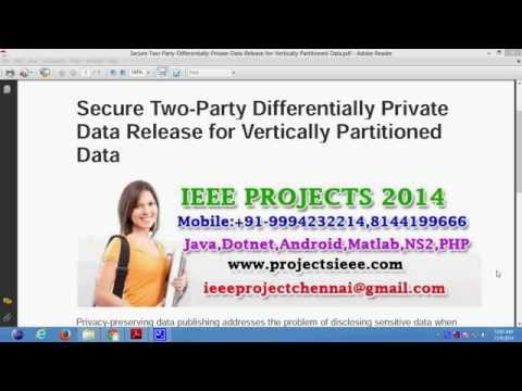 Secure Two Party Differentially Private Data Release For Vertically Partitioned Data
