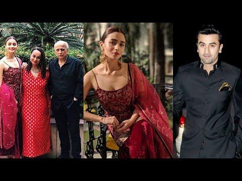 Alia Bhatt looking like princess in her engagement with Ranbir Kapoor in Kolkata 😍