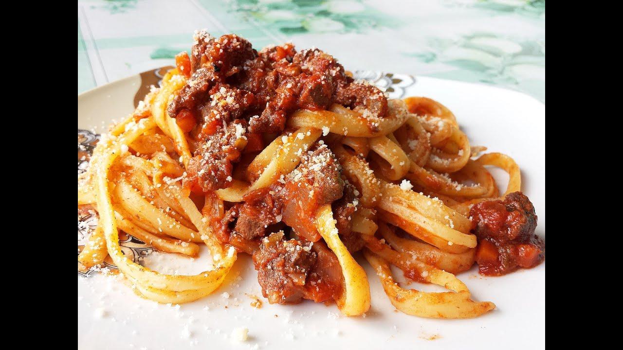 Tagliatelle al rag di cinghiale le video ricette di for Ricette di pasta