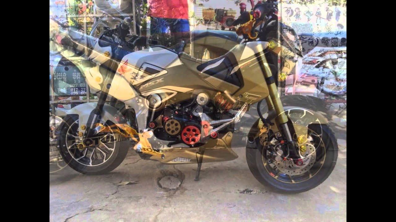 honda msx 125 motorcycle custom modification/ cambodia in kampot