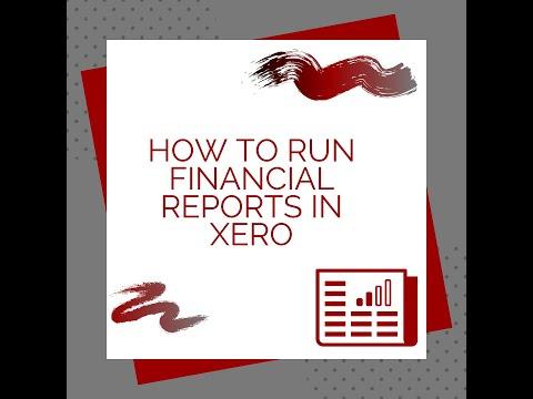 Running financial reports in Xero