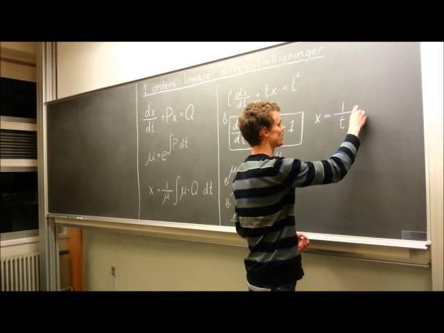 1. ordens lineære differentialligninger