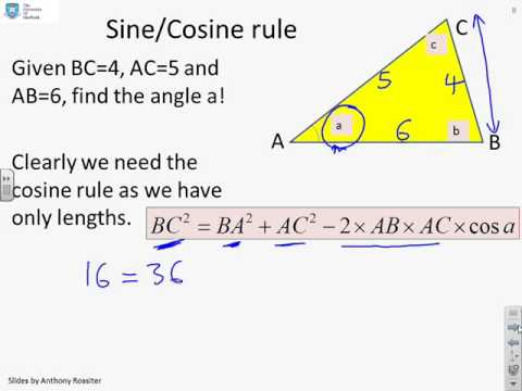 Revision of A level trigonometry - questions and answers 1 - YouTube
