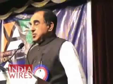 Subramanian Swamy talks about 2G Scam, Black Money, Sonia Gandhi in Bangalore