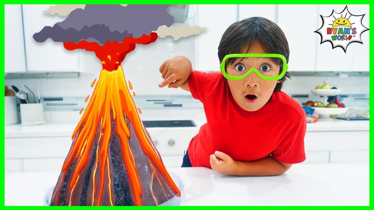 Volcano science experiment for Kids to do at home with Vinegar and Baking Soda!!!