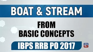 BOAT & STREAM | BASIC CONCEPTS | MATHS | IBPS | RRB 2017