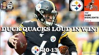 Cleveland Browns vs. Pittsburgh Steelers Week 13 Highlights | NFL 2019
