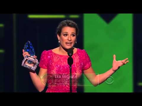 Lea Michele & Chris Colfer win Favourite Comedic TV Actress and Actor @ PCAs 2013 HD