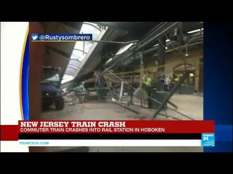 US - Commuter train crashes into a rail station in Hoboken, New Jersey