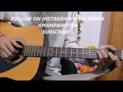 Darasal - Atif Aslam - Guitar Cover Lesson Chords Easy - Raabta - Sushant & Kriti