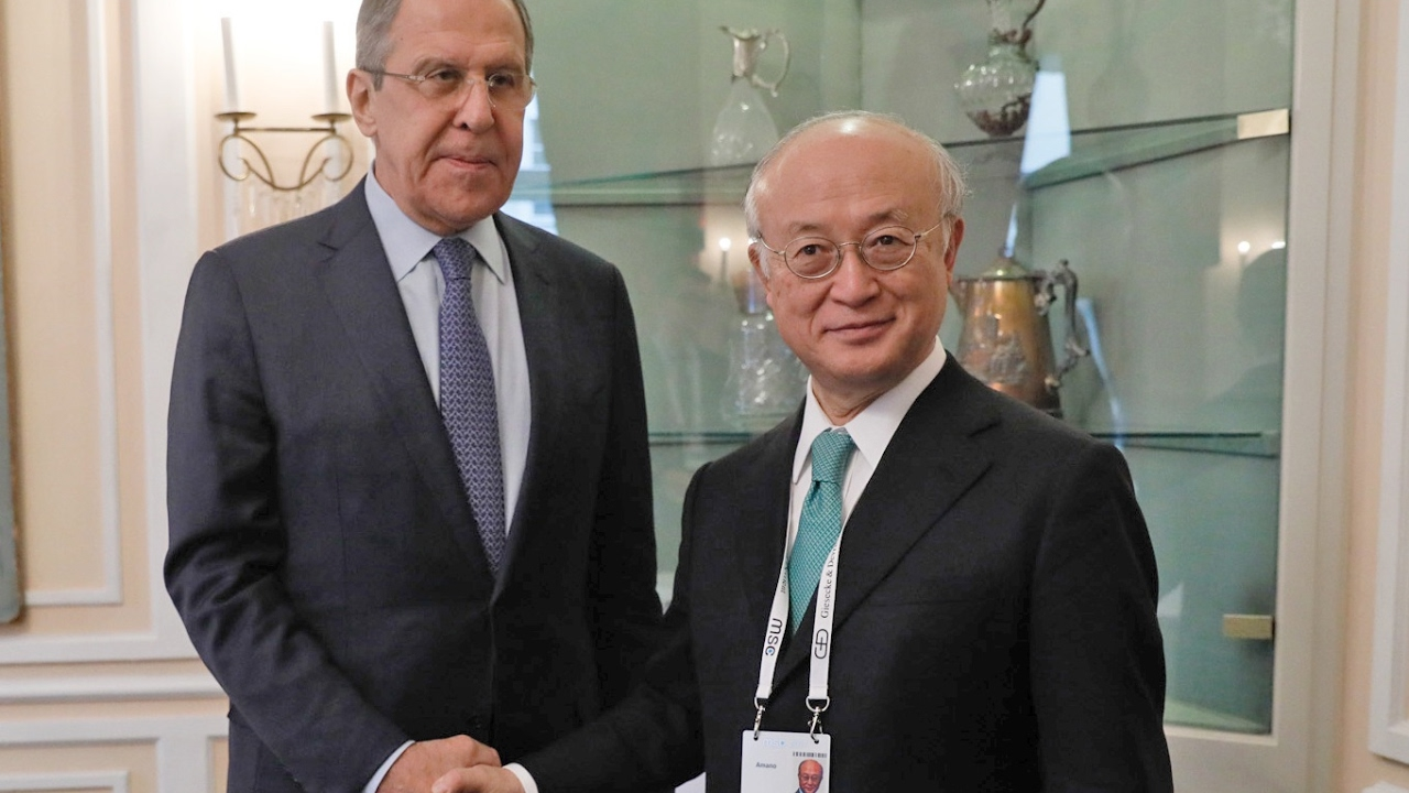 С.Лавров и Гендиректор МАГАТЭ Ю.Амано | Sergey Lavrov & IAEA Director General