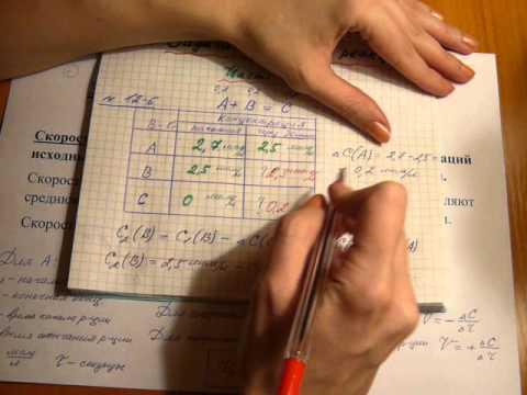 Как вычислить среднюю скорость реакции