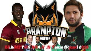 brampton Wolves Team Squad 2019 Global T20 Canada 2019 #GT20 #CandaGlobalT20