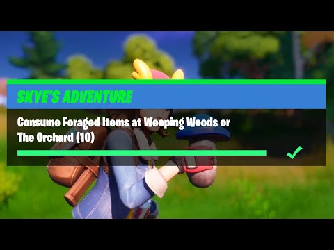 Consume Foraged Items At Weeping Woods Or The Orchard (10) - Fortnite Skye's Adventure Challenges