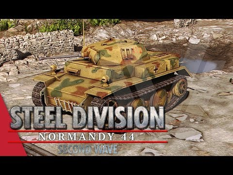 SECOND WAVE DLC! 9th Panzer - Steel Division: Normandy 44 Gameplay (Sainte-Mère-Église,Very Hard AI)