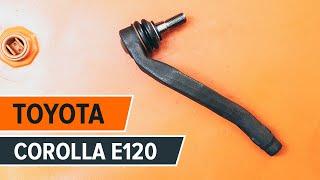 Como trocar ponteiras de direcção Toyota Corolla E120 TUTORIAL | AUTODOC