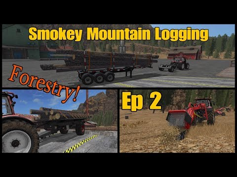 Let's Play Farming Simulator 17 PS4: Smokey Mountain Logging, Ep 2 (Forestry)