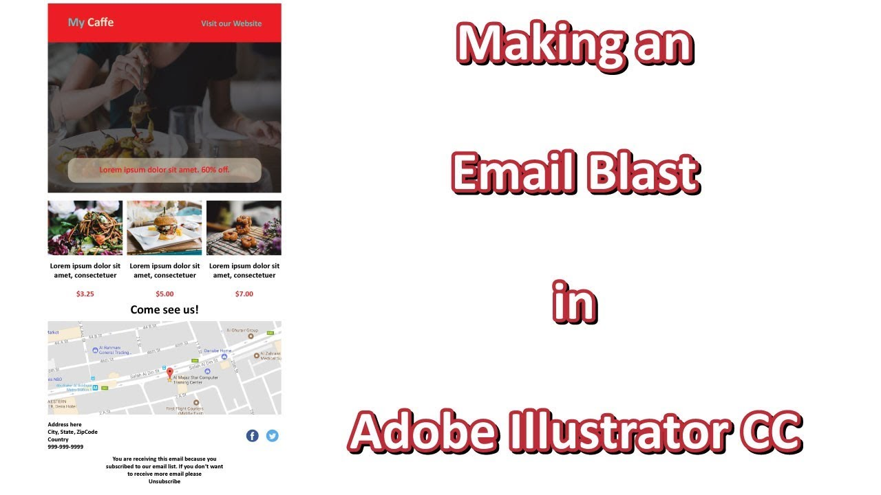 Making An Email Blast In Adobe Illustrator Cc Email Template Youtube