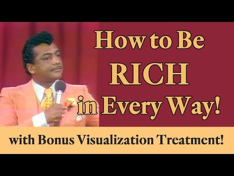 How to Be Rich in Every Way (with bonus Visualization Treatment)