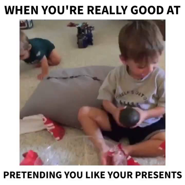 Well behaved boy gets avocado for Christmas - YouTube