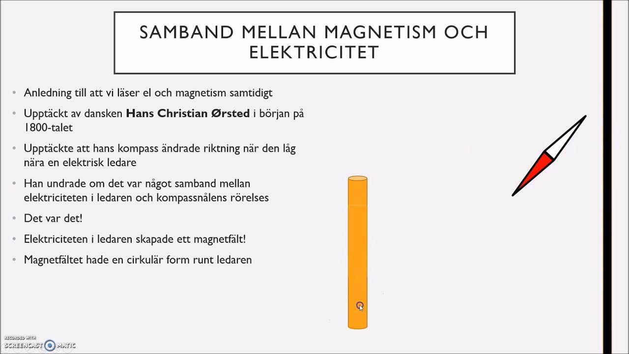 Magnetism - Magnetfält och elmotorer