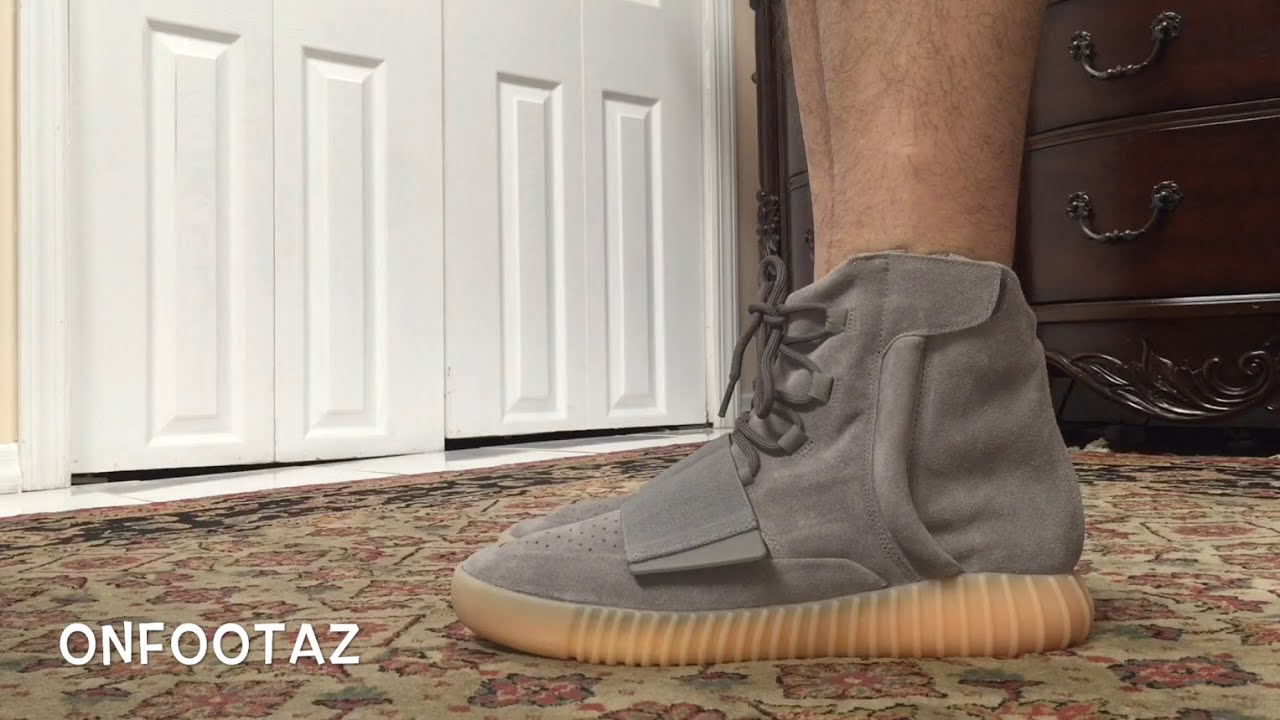278318ba2d13a Adidas Yeezy 750 Boost Glow In The Dark On Foot - YouTube