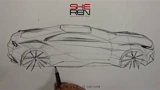 How to sketch a car(Tip-Up View)