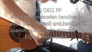 AKG C411 PP and Superlux E100 Mic test